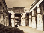Khonsu temple Ancient Thebes engraving from Panorama of Egypt and Nubia by Hector Horeau