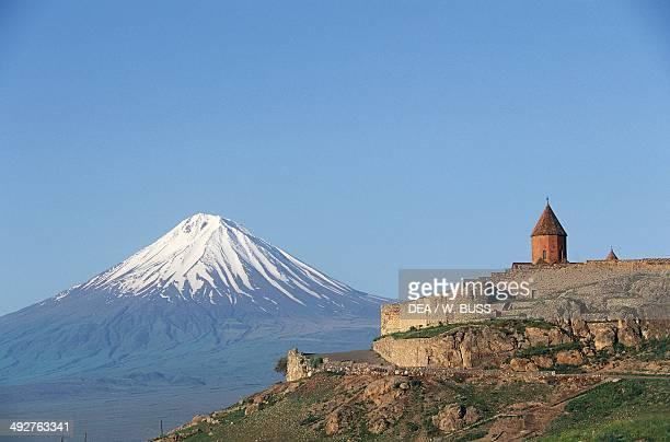 Khor Virap monastery 17th century near Artashat with Mount Ararat in the background Armenia