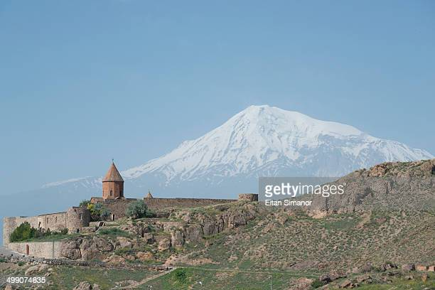 Khor Virap monastery and Mount Ararat. Armenia.