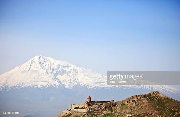 Khor Virap monastery near Mount Ararat, Armenia