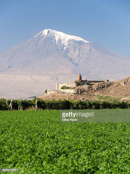Khor Virap Monastery with Mount Ararat