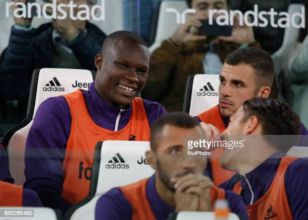 Khouma Babacar during Serie A match between Juventus v Fiorentina in Turin on September 20 2017