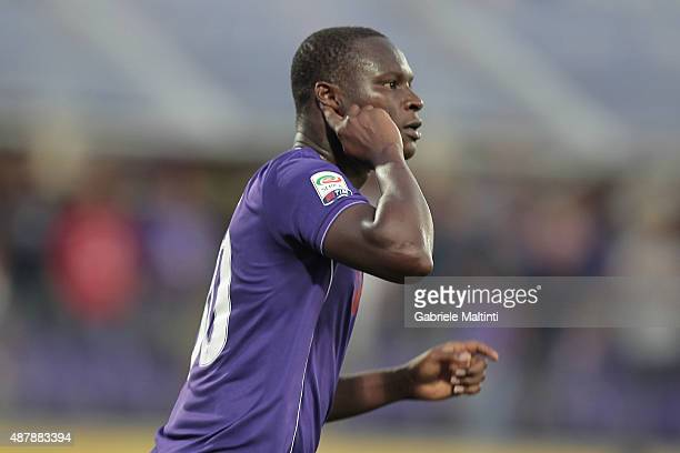 Khouma Babacar of ACF Fiorentina celebrates after scoring a goal during the Serie A match between ACF Fiorentina and Genoa CFC at Stadio Artemio...