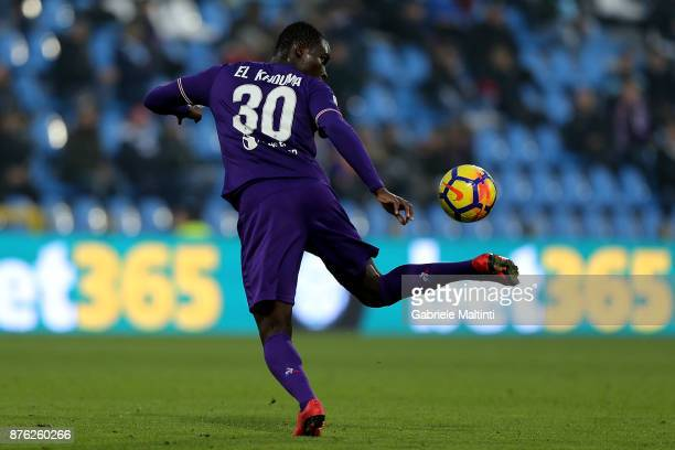 Khouma Babacar of ACF Fiorentina during the Serie A match between Spal and ACF Fiorentina at Stadio Paolo Mazza on November 19 2017 in Ferrara Italy