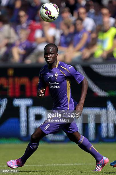 Khouma Babacar of ACF Fiorentina in action during the Serie A match between ACF Fiorentina and Genoa CFC at Stadio Artemio Franchi on September 14...
