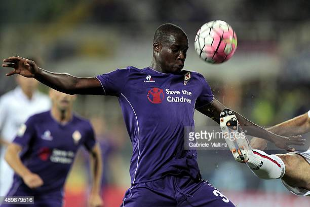Khouma Babacar of ACF Fiorentina in action during the Serie A match between ACF Fiorentina and Bologna FC at Stadio Artemio Franchi on September 23...