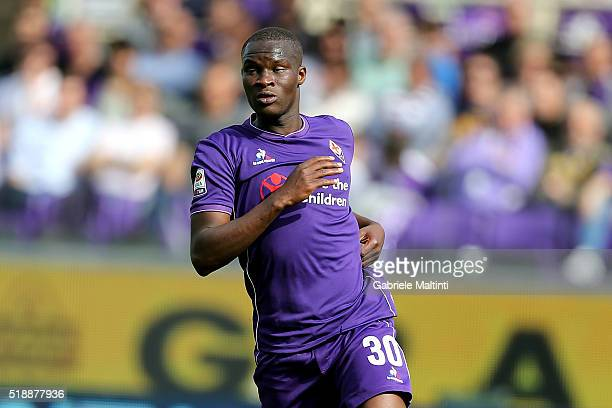 Khouma Babacar of ACF Fiorentina in action during the Serie A match between ACF Fiorentina and UC Sampdoria at Artemio Franchi on April 3 2016 in...