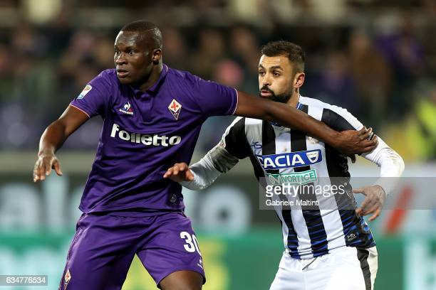 Khouma Babacar of ACF Fiorentina in action during the Serie A match between ACF Fiorentina and Udinese Calcio at Stadio Artemio Franchi on February...