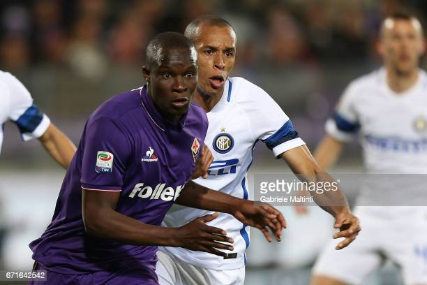Khouma Babacar of ACF Fiorentina in action during the Serie A match between ACF Fiorentina v FC Internazionale at Stadio Artemio Franchi on April 22...