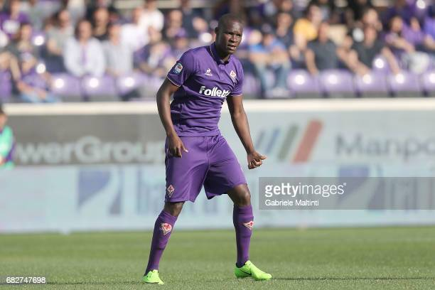 Khouma Babacar of ACF Fiorentina in action during the Serie A match between ACF Fiorentina and SS Lazio at Stadio Artemio Franchi on May 13 2017 in...