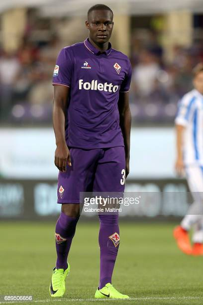 Khouma Babacar of ACF Fiorentina in action during the Serie A match between ACF Fiorentina and Pescara Calcio at Stadio Artemio Franchi on May 28...