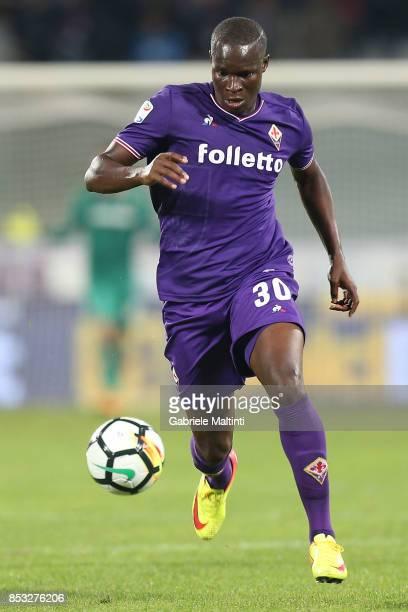 Khouma Babacar of ACF Fiorentina in action during the Serie A match between FC Crotone and Benevento Calcio at Stadio Artemio Franchi on September 24...