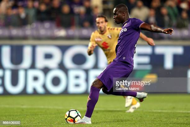 Khouma Babacar of ACF Fiorentina in action during the Serie A match between ACF Fiorentina and Torino FC at Stadio Artemio Franchi on October 25 2017...