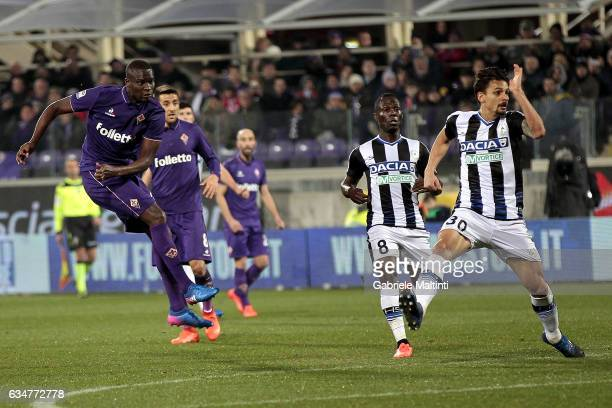 Khouma Babacar of ACF Fiorentina scores a goal during the Serie A match between ACF Fiorentina and Udinese Calcio at Stadio Artemio Franchi on...