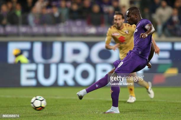 Khouma Babacar of ACF Fiorentina scores a goal during the Serie A match between ACF Fiorentina and Torino FC at Stadio Artemio Franchi on October 25...