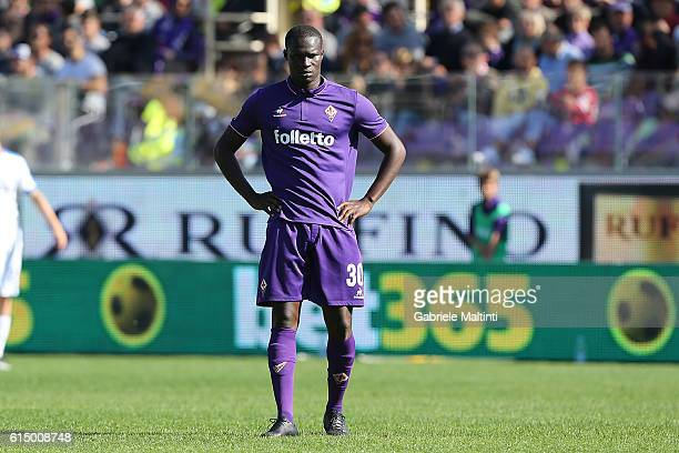 Khouma Babacar of ACF Fiorentina shows his dejection during the Serie A match between ACF Fiorentina and Atalanta BC at Stadio Artemio Franchi on...