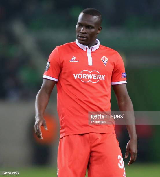 Khouma Babacar of Fiorentina looks on during the UEFA Europa League Round of 32 first leg match between Borussia Moenchengladbach and ACF Fiorentina...
