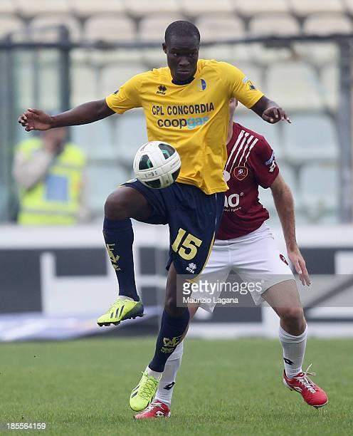 Khouma Babacar of Modena during the Serie B match between Modena FC and Reggina Calcio at Alberto Braglia Stadium on October 19 2013 in Modena Italy