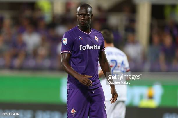 Khouma Babacr of ACF Fiorentina in action during the Serie A match between ACF Fiorentina and UC Sampdoria at Stadio Artemio Franchi on August 27...