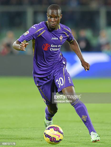 Khouma el Babacar of Fiorentina in action during the Serie A match between ACF Fiorentina and SSC Napoli at Stadio Artemio Franchi on November 9 2014...