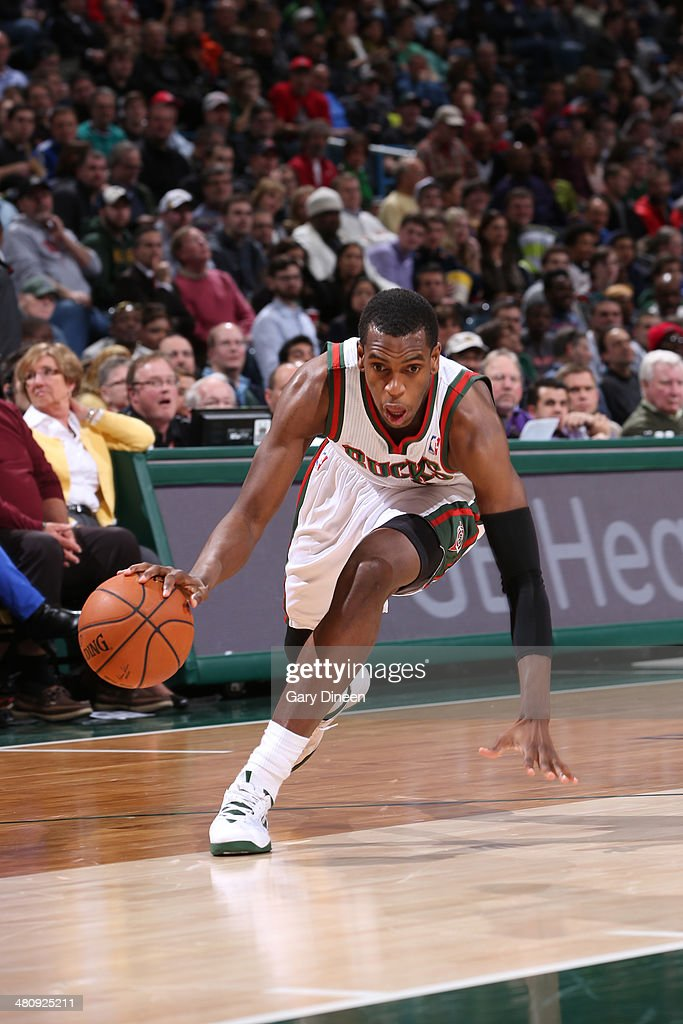 <a gi-track='captionPersonalityLinkClicked' href=/galleries/search?phrase=Khris+Middleton&family=editorial&specificpeople=6689629 ng-click='$event.stopPropagation()'>Khris Middleton</a> #22 of the Milwaukee Bucks drives to the basket against the Indiana Pacers on February 22, 2014 at the BMO Harris Bradley Center in Milwaukee, Wisconsin.