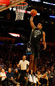 Khris Middleton of the Milwaukee Bucks dunks the ball during a game against the Los Angeles Lakers at Staples Center on December 15 2015 in Los...