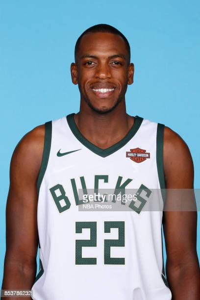 Khris Middleton of the Milwaukee Bucks poses for a head shot during media day on September 25 2017 at the Froedtert and Medical College of Wisconsin...