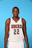 Khris Middleton of the Milwaukee Bucks poses for a portrait during media day on September 29 2014 at the Bucks Training Center in St Francis...