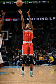 Khris Middleton of the Milwaukee Bucks shoots against the Denver Nuggets on March 3 2015 at the Pepsi Center in Denver Colorado NOTE TO USER User...