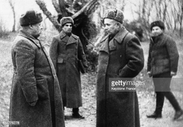 Khrouchtchev durant la Seconde guerre mondiale circa 1940 en Russie
