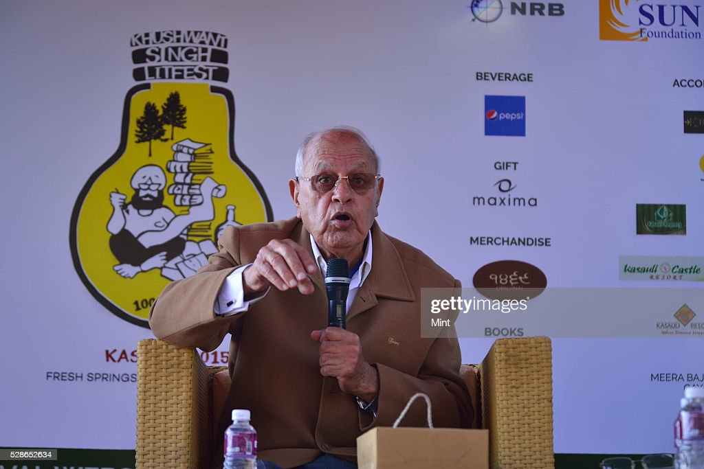 Khushwant Singh Literary Festival 2015 at the Kasauli Club, Kasauli, on October 10, 2015 in Himachal Pradesh, India.