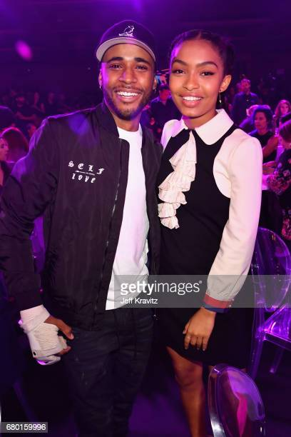 Khylin Rhambo and Yara Shahidi attend the 2017 MTV Movie And TV Awards at The Shrine Auditorium on May 7 2017 in Los Angeles California