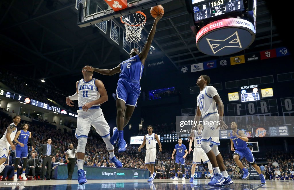Khyri Thomas #2 of the Creighton Bluejays shoots the ball against the Xavier Musketeers at Cintas Center on January 13, 2018 in Cincinnati, Ohio.