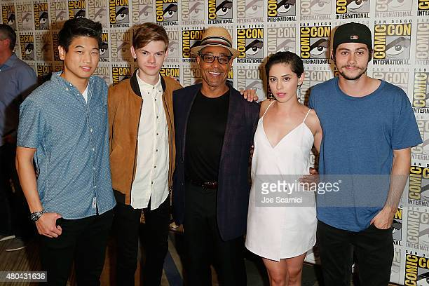 Ki Hong Lee Thomas BrodieSangster Giancarlo Esposito Rosa Salazar and Dylan O'Brien attend the 20'th Century Fox Press Line at ComicCon International...