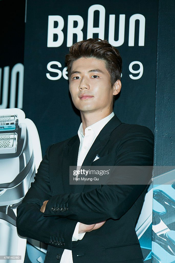 Ki Sung-Yueng of Swansea City attends the photocall for 'BRAUN' Series 9 launch event at CGV on June 23, 2015 in Seoul, South Korea.