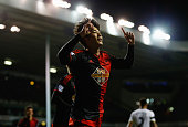 Ki SungYueng of Swansea City celebrates as he scores their first and equalising goal during the Barclays Premier League match between Tottenham...