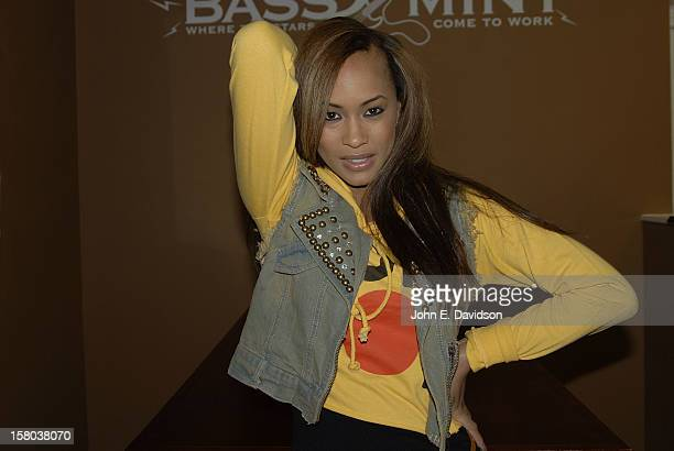 Kia 'Denice' Hampton of Rock Star Madness Band attends the Rock Star Madness Project Pride event at The Bass Mint on November 30 2012 in Atlanta...