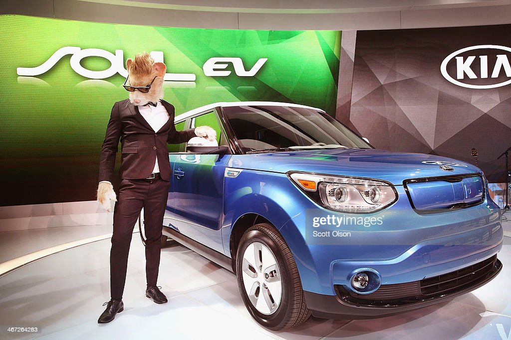 Kia introduces the 2015 Soul EV at the Chicago Auto Show on February 6 2014 in Chicago Illinois The show which is oldest and largest in the nation...