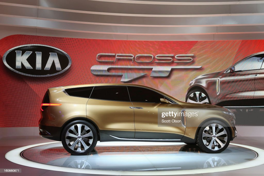 Kia introduces the Cross GT Concept car at the Chicago Auto Show on February 7 2013 in Chicago Illinois The Chicago Auto Show one of the oldest and...