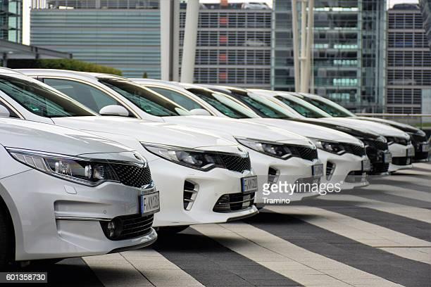 Kia Optima vehicles on the parking