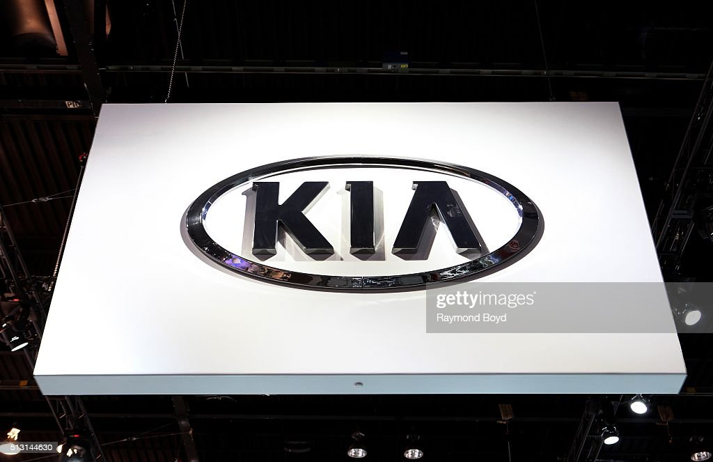 Kia signage is on display at the 108th Annual Chicago Auto Show at McCormick Place in Chicago Illinois on February 19 2016