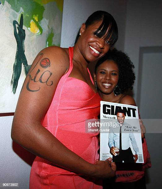 Kia Vaughn attends the Hennessy Black Giant Magazine and 'Model City' fashion week finale at Ramscale Loft Studios on September 18 2009 in New York...