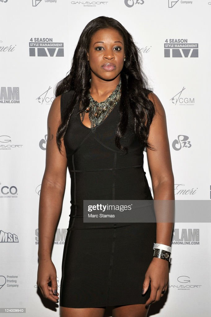 Kia Vaughn of the New York Liberty attends the 4Season Style Management 1 Year Anniversary Celebration at Gansevoort Hotel Park Avenue on September 7, 2011 in New York City.