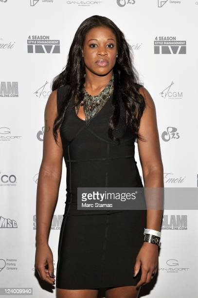 Kia Vaughn of the New York Liberty attends the 4Season Style Management 1 Year Anniversary Celebration at Gansevoort Hotel Park Avenue on September 7...