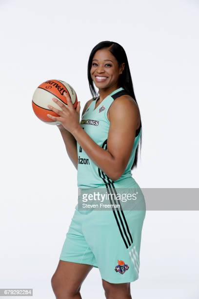 Kia Vaughn of the New York Liberty poses for a portrait at Media Day at MSG Training Center on May 4 2017 in Tarrytown New York NOTE TO USER User...