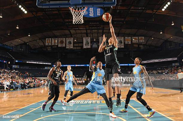 Kiah Stokes of the New York Liberty goes for a lay up against the Chicago Sky on July 8 2016 at the Allstate Arena in Rosemont Illinois NOTE TO USER...
