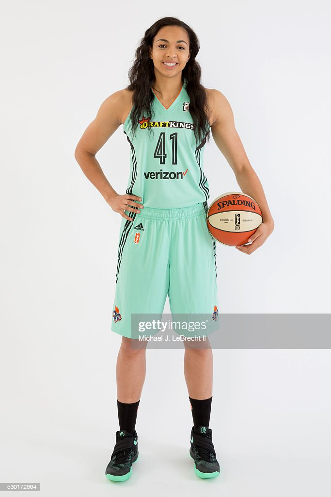 <a gi-track='captionPersonalityLinkClicked' href=/galleries/search?phrase=Kiah+Stokes&family=editorial&specificpeople=8615620 ng-click='$event.stopPropagation()'>Kiah Stokes</a> #41 of the New York Liberty poses for a portrait during media day on May 09, 2016 at Madison Square Garden Training Center in Tarrytown, New York.