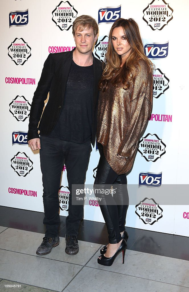 Kian Egan and Jodi Albert attend the Cosmopolitan Ultimate Woman of the Year awards at Victoria & Albert Museum on October 30, 2012 in London, England.