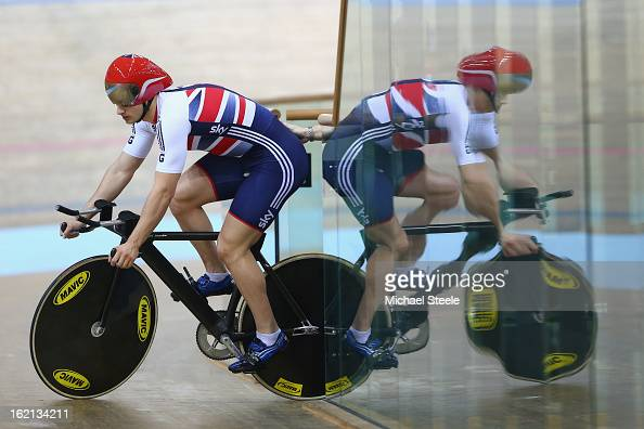 Kian Emadi of Great Britain during practise ahead of the UCI Track World Championships at Minsk Arena on February 19 2013 in Minsk Belarus