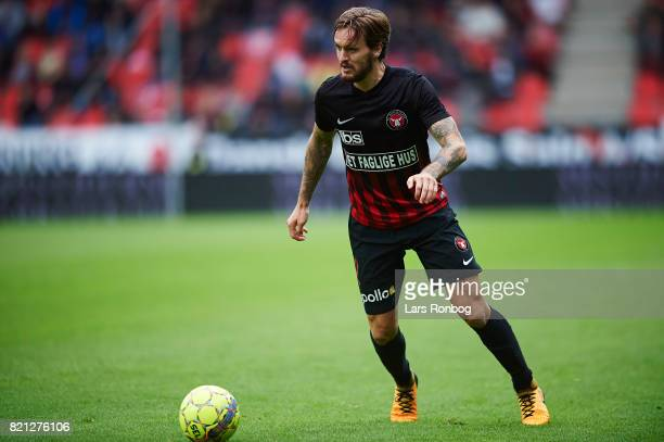 Kian Hansen of FC Midtjylland in action during the Danish Alka Superliga match between FC Midtjylland and Silkeborg IF at MCH Arena on July 23 2017...
